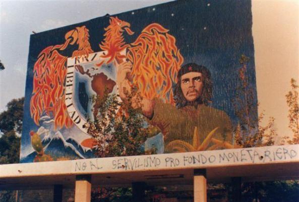 Antiguo mural del Auditorio Che Guevara en la UNAM