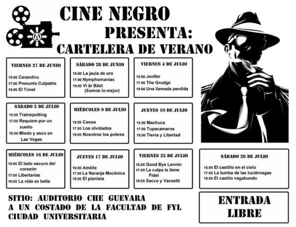 cine negro verano