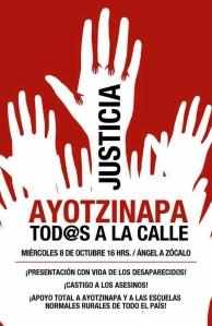 Marcha8OctAyotzinapa