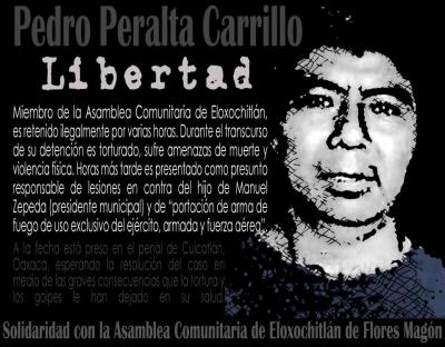 pedro peralta-preso politico Oaxaca