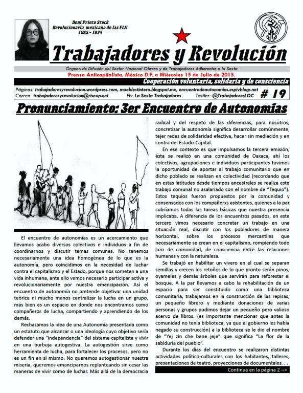 Trabajadores y Revolución #19