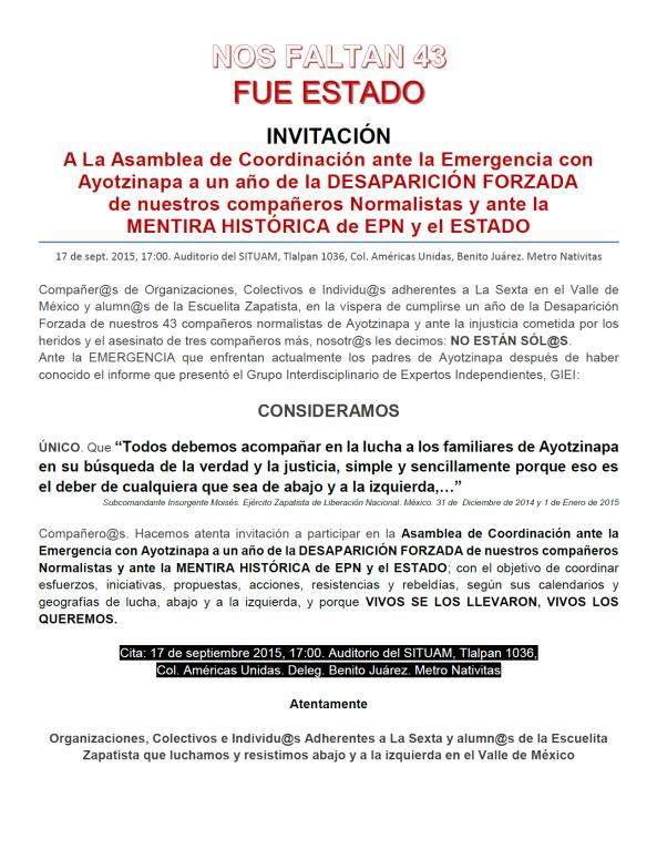Invitación Sexta