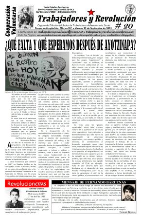 Trabajadores y Revolución #20