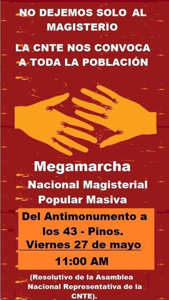 CNTE-megamarcha-27 mayo 2016